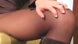Sexy cutie strips plus takes off admirable tube after sexy posing