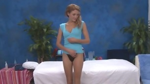 Sexy eighteen year old hotty gets fucked steadfast by her massage therapist