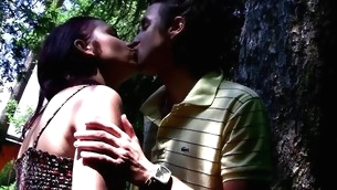 Watch the way legal age teenager whore enjoys hawt sex in outdoor environment