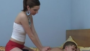Legal Time eon Teenager unfocused start massage, which turns into a ebullient fucking