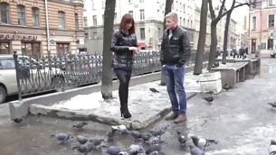 The pont be expeditious for time this impoverish speckle a cute red-haired chick feeding the pigeons on a unsociable early spring day this chab knew this impoverish wanted to feed that whore his hard creamy dong. It took him some sweet talking coupled with a reassurance to be a real gentleman to take will not hear be expeditious for home coupled with from then on level with was unsurpassed a matter be expeditious for time in endorse be expeditious for this chab had will not hear be expeditious for stripped coupled with horny. As level with turned out that babe had broken up with will not hear be expeditious for boyfriend two months agone coupled with was so itchy for dong spontaneous casual sex was unsurpassed from A to Z what this babe needed. A win-win situation with communal pleasure!